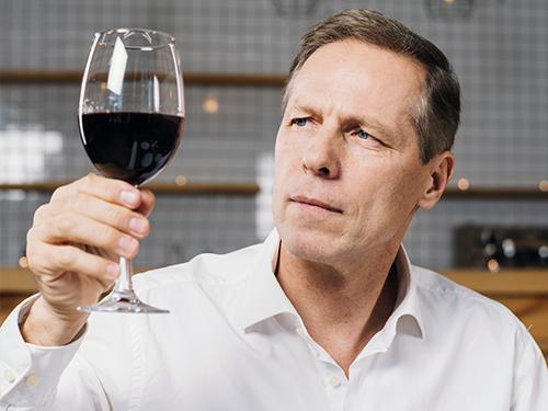 vista copa de vino
